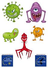 Zielscheibe Viren